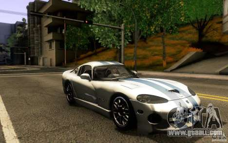 Dodge Viper GTS Coupe TT Black Revel for GTA San Andreas back view