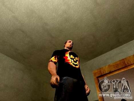 Black t-shirt with a skull for GTA San Andreas forth screenshot