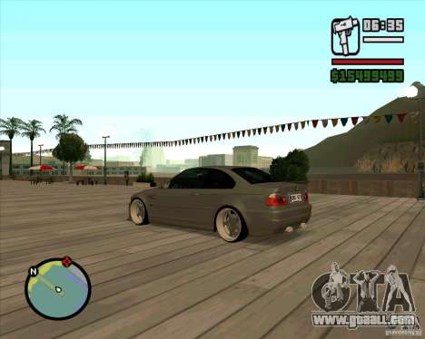 BMW E46 M3 Sport for GTA San Andreas left view