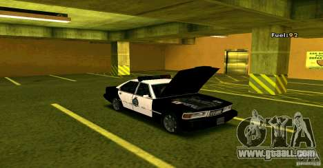 Sentinel Police LV for GTA San Andreas right view
