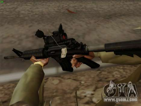 Colt Commando Aimpoint for GTA San Andreas forth screenshot