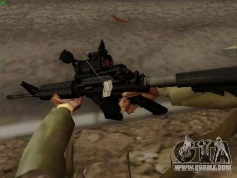 Colt Commando Aimpoint for GTA San Andreas forth screenshot