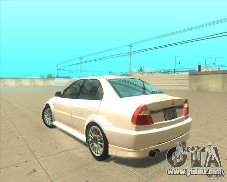Mitsubishi Lancer Evolution VI 1999 Tunable for GTA San Andreas side view
