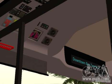 Volvo B7L for GTA San Andreas inner view