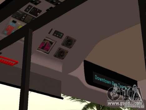 Volvo B7L for GTA San Andreas inner view