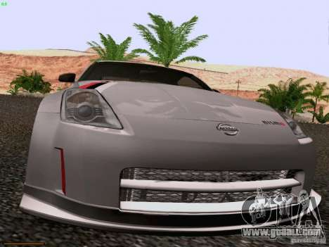 Nissan 350Z Nismo S-Tune for GTA San Andreas inner view