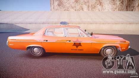 AMC Matador Hazzard County Sheriff [ELS] for GTA 4 side view