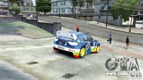 Subaru Impreza WRX STI Rallycross SHOEL Vinyl for GTA 4 back left view