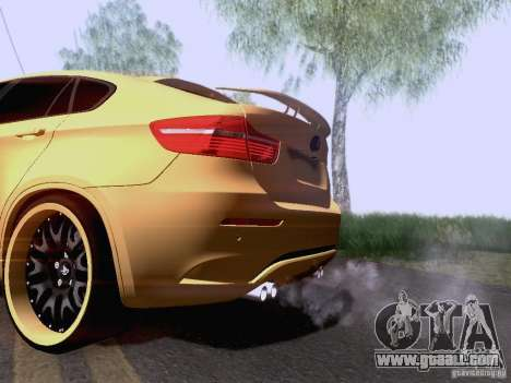 BMW X6M Hamann for GTA San Andreas back left view