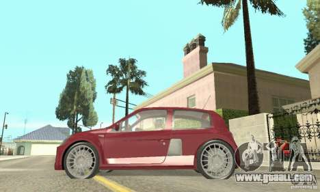 Renault Clio Phase 2 for GTA San Andreas back left view