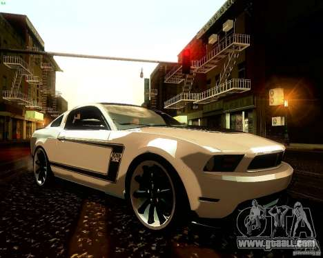 Ford Mustang Boss 302 2011 for GTA San Andreas side view