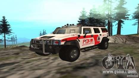 HUMMER H2 Amulance for GTA San Andreas