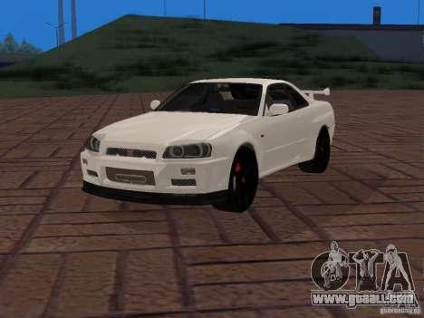 Nissan Skyline GT-R R34 Tunable for GTA San Andreas
