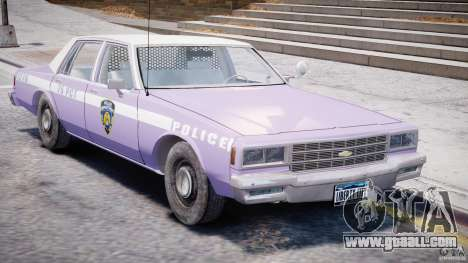 Chevrolet Impala Police 1983 v2.0 for GTA 4 inner view