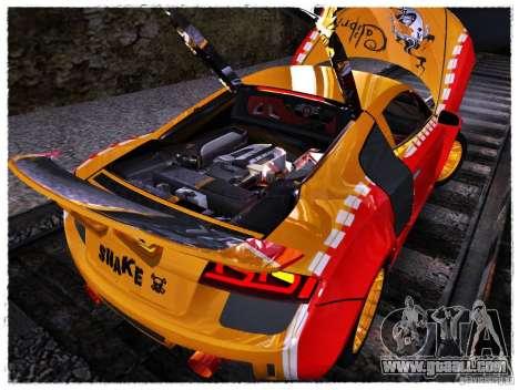Audi R8 Calibri-Ace for GTA San Andreas back view