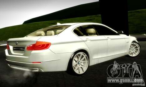 BMW 550i F10 for GTA San Andreas back left view