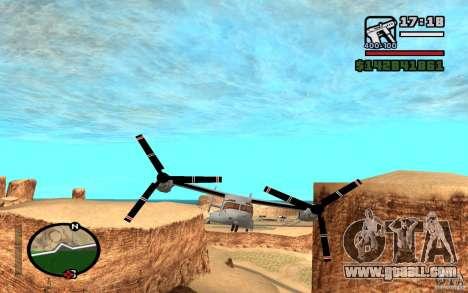 Bell V-22 Osprey for GTA San Andreas left view
