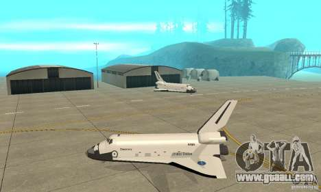 Space Shuttle Discovery for GTA San Andreas left view