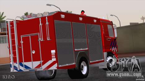 Mercedes-Benz Actros Fire Truck for GTA San Andreas right view