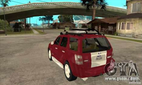 Ford Escape 2009 for GTA San Andreas back left view