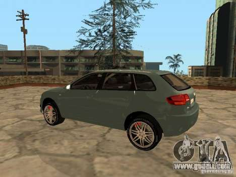 Audi S3 Sportback 2007 for GTA San Andreas back left view