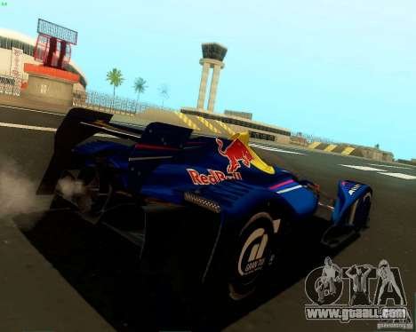 X2010 Red Bull for GTA San Andreas back left view
