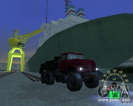 ZIL 131 Tanker for GTA San Andreas back view