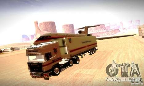 Fema Trailer Russia for GTA San Andreas back view