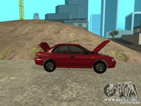 Subaru Impreza WRX STI 1995 for GTA San Andreas inner view