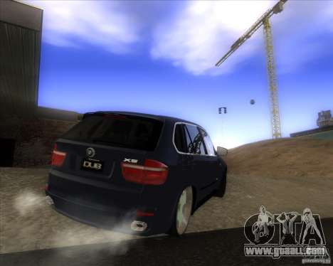 BMW X5 dubstore for GTA San Andreas back view