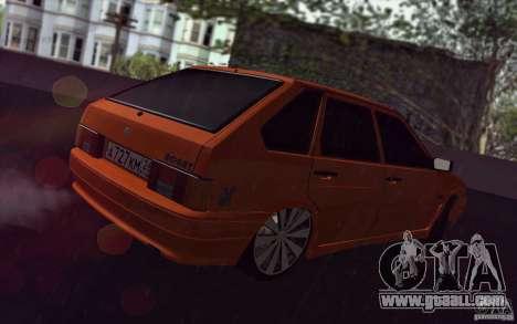 Ваз 2114 Juicy Orange for GTA San Andreas back view