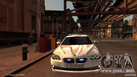 BMW 550i Azeri Police YPX for GTA 4 inner view