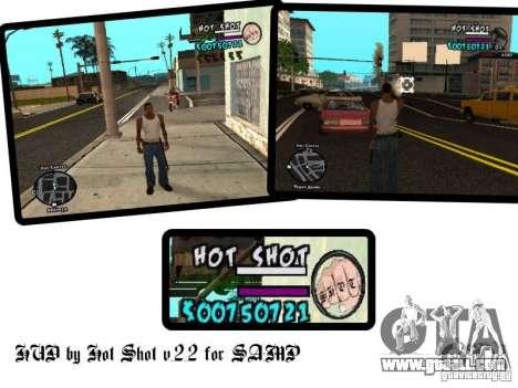 HUD by Hot Shot v.2.2 for SAMP for GTA San Andreas