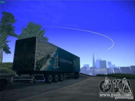 Trailer for Scania R620 Dubai Trans for GTA San Andreas back view