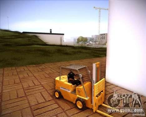 Caterpillar Torocat for GTA San Andreas back left view