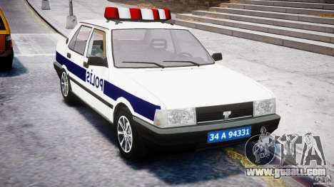 Tofas Sahin Turkish Police v1.0 for GTA 4 right view