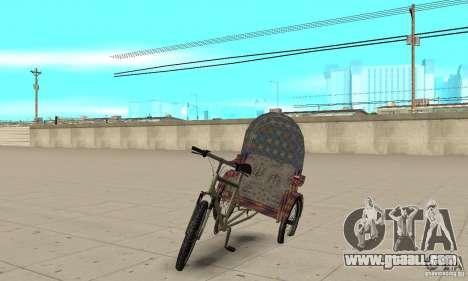 Manual Rickshaw v2 Skin5 for GTA San Andreas