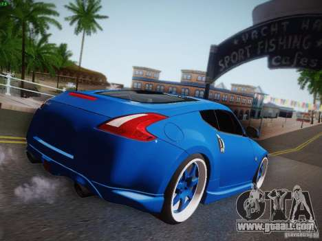 Nissan 370Z Fatlace for GTA San Andreas back view