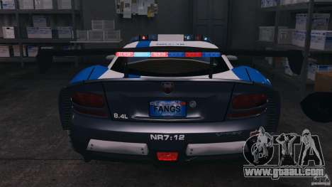 Dodge Viper SRT-10 ACR ELITE POLICE [ELS] for GTA 4 bottom view