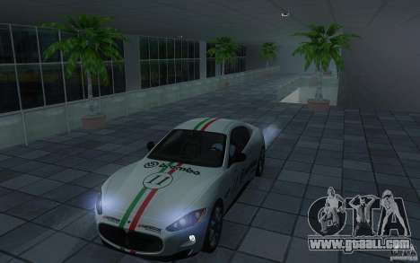 Maserati Gran Turismo S 2011 for GTA San Andreas back view