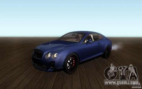 Bentley Continental SS for GTA San Andreas