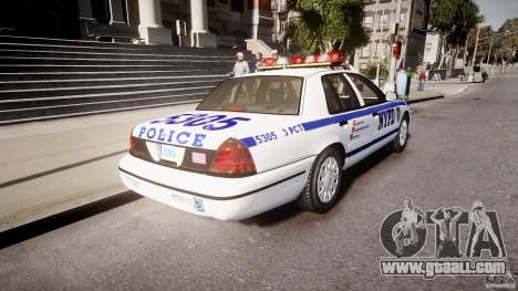 Ford Crown Victoria Police Department 2008 NYPD for GTA 4 back left view