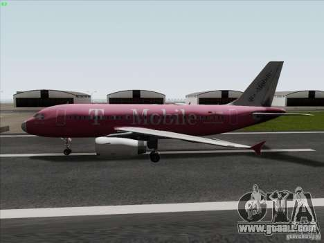 Airbus A319 Spirit of T-Mobile for GTA San Andreas left view