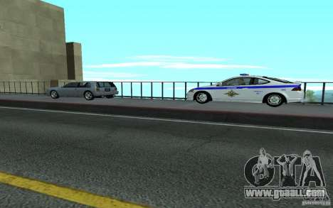 Police on the bridge of San Fiero_v. 2 for GTA San Andreas forth screenshot