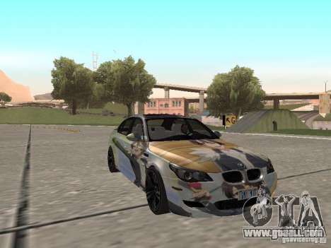 BMW M5 E60 for GTA San Andreas bottom view