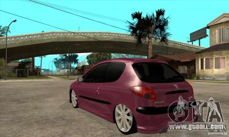 Peugeot 206 Suspen AR for GTA San Andreas back left view