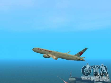 Boeing 767-300 Air Canada for GTA San Andreas side view