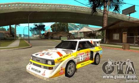 Audi Quattro S1 Group B for GTA San Andreas