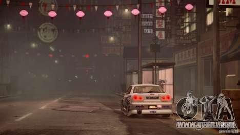 Nissan Skyline R-34 v1.0 for GTA 4 upper view
