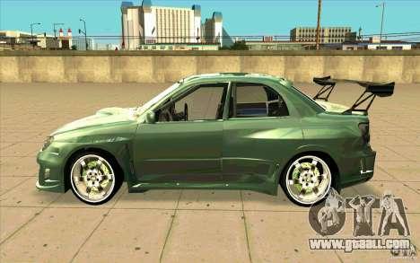 Subaru Impreza STI for GTA San Andreas left view
